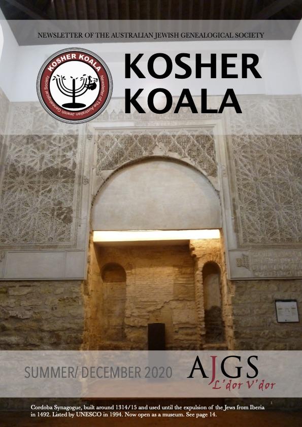 Kosher Koala Summer/ December 2020